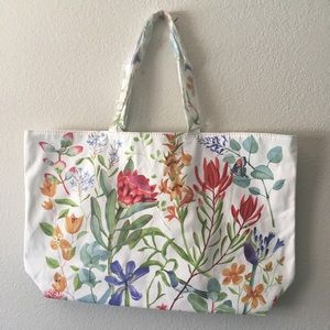 Handbags - Linen summer tote